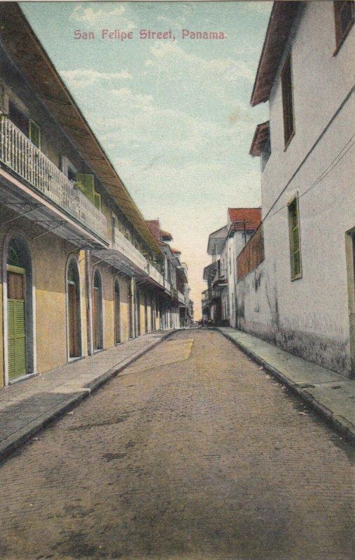 PANAMA CITY, 1900-10s ; San Felipe Street