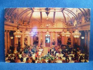 Postcard CA San Francisco Sheraton Place Hotel Interior Garden court
