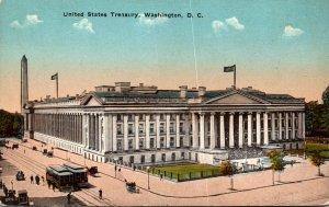 Washington D C Trolleys At The United States Treasury