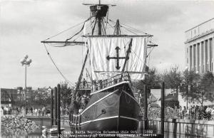 D60/ Columbus Ohio Real Photo RPPC Postcard 1992 Santa Maria Ship Replica 500th