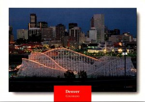 Colorado Denver Skyline At Night