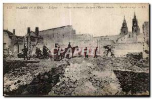 Old Postcard The Thorn War ruined village Basically I intact Church Army