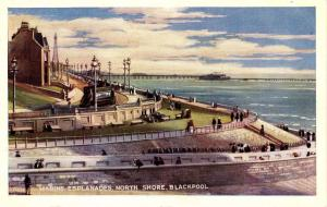 UK - England, Blackpool. Marine Esplanades, North Shore