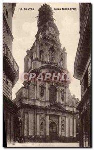 Postcard Old Nantes Holy Cross Church