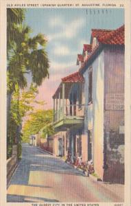 Florida St Augustine Old Aviles Street The Spanish Quarter 1939