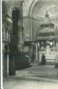 Croatia, TROGIR, Cathedral interior, unused real photo Postcard