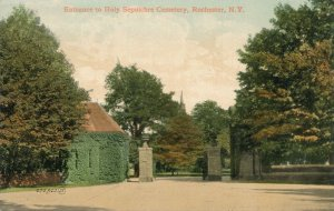 Rochester, New York - Entrance to Holy Sepulchre Cemetery - DB