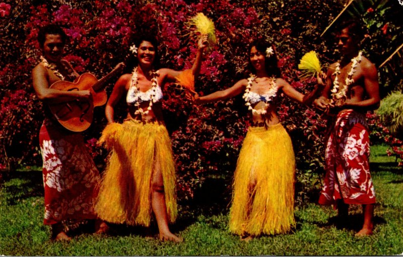 Tahiti Papeete Tahitian Dancers and Guitarists