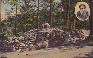 Helen Hunt's Grave Above Seven Falls Colorado Springs Colorado 1949