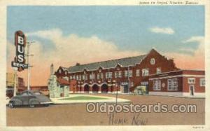 Santa Fe Depot, Newton, KS,Kansas, USA Train Railroad Station Depot Post Card...