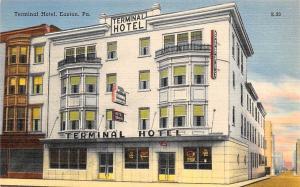 USA Terminal Hotel, Easton Pa Street postcard