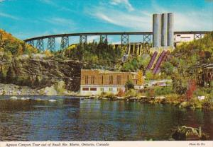 Canada Ontario Trestle & Dam On MOntreal River Agawa Canyon Tour Out Of S...