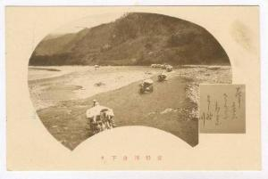 Boats in shallow river, Japan, 00-10s