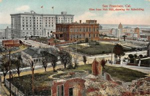San Francisco, CA View from Nob Hill, 1906 Earthquake Damage Vintage Postcard