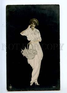 233660 FASHION Woman Flowers Vintage PHOTO COLLAGE Art Nouveau