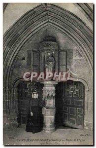Saint Jean du Doingt Old Postcard Porch of & # 39eglise