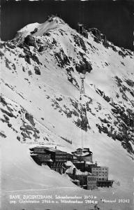 Bayern Zugspitzbahn Schneefernerhaus geg Gipfelstation Mountain Postcard