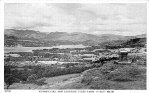 Windermere and Langdale Pikes from Orrest Head Panoramic view
