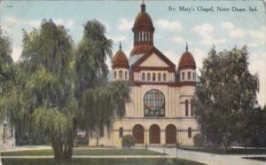 Indiana Notre Dame St Mary's Chapel Curteich