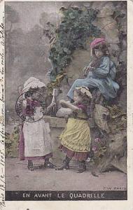AS: P. W. Paris, Children Playing Instruments, En Avant Le Quadrille, PU-1905