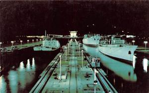 Panama Old Vintage Antique Post Card Miraflores Locks Panama Canal Unused