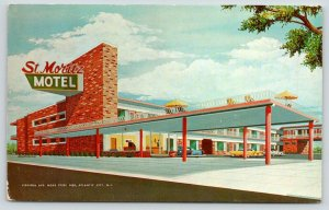 Atlantic City NJ~St Moritz Motel~Virginia Avenue~1962 Artist Conception Postcard