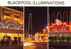 Blackpool Postcard, Blackpool Illuminations by E.T.W Dennis & Sons Ltd O23