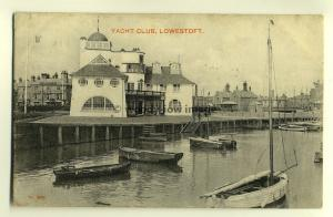 tp6763 - Suffolk - The Yacht Club and Harbour in 1906, at Lowestoft -  Postcard