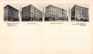 Waterloo Iowa City Buildings Multiview Antique Postcard K88675