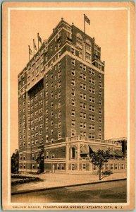1931 Atlantic City, New Jersey Postcard COLTON MANOR HOTEL Penn. Ave. View