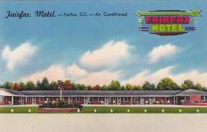 Exterior Illustration of Fairfax Motel, City Limits, Fairfax, South Carolina,...