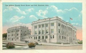 Jail Las Animas County Court House 1922 Postcard Trinidad Colorado Kress 4931