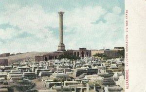 ALEXANDRIE , Egypt , 1900-1910s ; Colonne Dioclecien : Cimitier Arabe