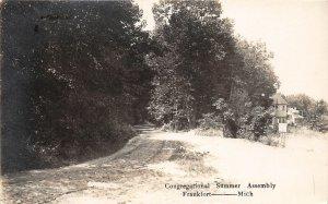 G21/ Frankfort Michigan RPPC Postcard 1915 Congregational Summer Assembly