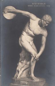 BF33598 discobolo mirone museo vaticano sculpture art front/back image