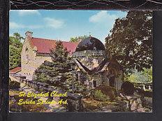 St Elizabeth Church,Eureka Springs,AR Postcard BIN