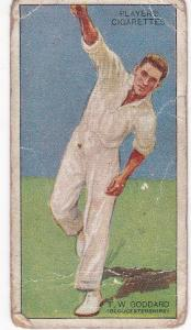 Cigarette Cards Player's Cricketers 1930 No 17 - T W Goddard
