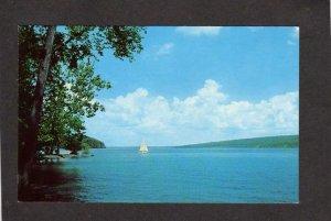 NY Canandaigua Lake Finger Lakes Region New York Sailboat Postcard