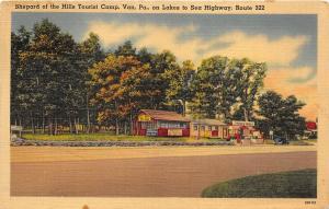 Van Pennsylvania 1940s Postcard Shepard Of The Hills Tourist Camp