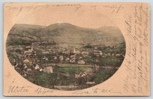 Ellenville New York~Birdseye Across Road~Homes~Farms~Church~Porter Photo~1906 PC