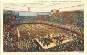 Linen of the Main Arena Municipal Auditorium Kansas City MO