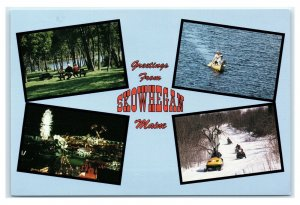 Postcard Greetings from Skowhegan, Maine ME The Belmont Motel ad K16