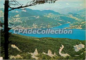 Postcard Modern Dam Serre Poncon (H A) has built 120 meters above the former ...