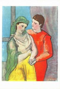 Pablo Picasso Art Print Postcard, The Lovers 46O