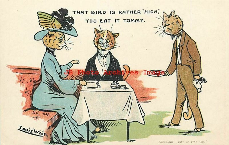 6 Postcards Set, Louis Wain, Davidson Bros No 6901, Anthropomorphic Cats