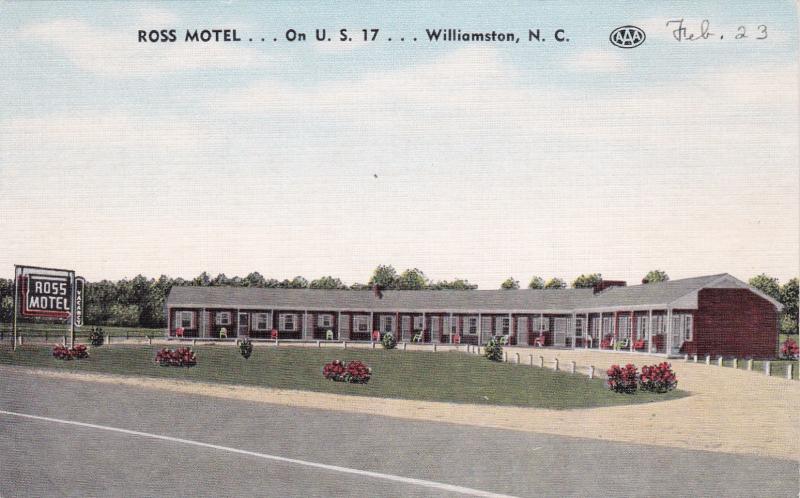 WILLIAMSTON , North Carolina , 1930s-40s; Ross Motel on U.S. 17