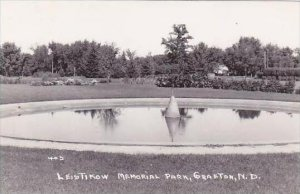 North Dakota Grafton Leistikow Memorial Park Real Photo RPPC