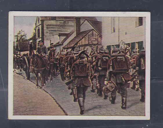 GERMANY TOBACCO CARD WWI 6x5 cms. SOLDIERS AAD5168
