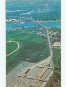 Unused Pre-1980 ENTRANCE GATES TO THE BRIDGE DOWN TO Port Huron MI d3931