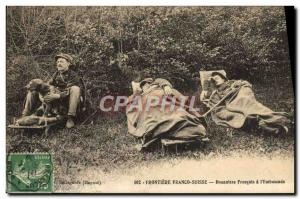 Postcard Old Customs Customs Frontiere Franco french Swiss Customs has the & ...